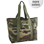 personalized nfl camo tote bag