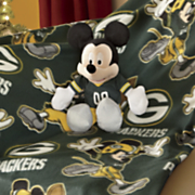 mickey or minnie nfl   mlb  hugger and throw