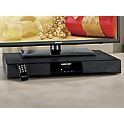 2 1 channel sound base system with built in subwoofer  bluetooth and fm radio by sharper image