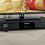 2.1 Channel Sound Base System with Built-In Subwoofer, Bluetooth and FM Radio by Sharper Image
