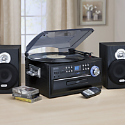 3-Speed Stereo Turntable with CD, Cassette and AM/FM Radio by Jensen