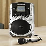 portable karaoke mp3 player with microphone by karaoke usa