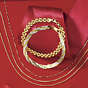 14K Yellow Gold Wheat Necklace