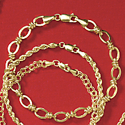 10K Yellow Gold Oval Knot Bracelet
