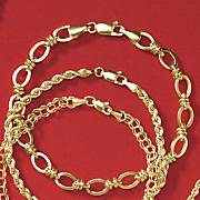 10k yellow gold oval knot bracelet