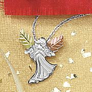 black hills gold angel pendant