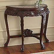 Carved Marble-Top Console