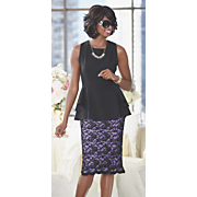 curacao lace top and skirt
