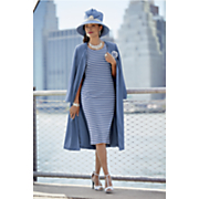 Sky Hat, Cora Jacket Dress and Pump
