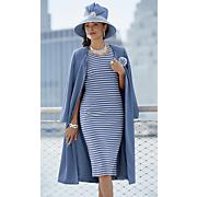 Sky Hat, Cora Jacket Dress and Pump