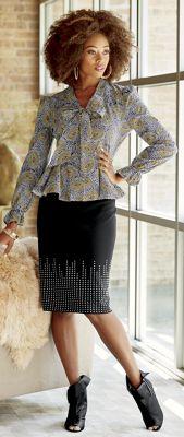 Talisha Blouse and Claudine Skirt