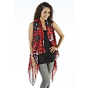 animal print scarf vest