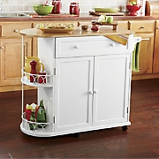 half round kitchen island cart