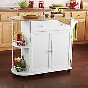 half round kitchen island cart