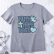 faith  hope and love t shirt