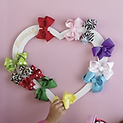 personalized hair bow wreath