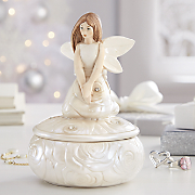 Rose Angel Figurine
