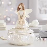 rose angel figurine