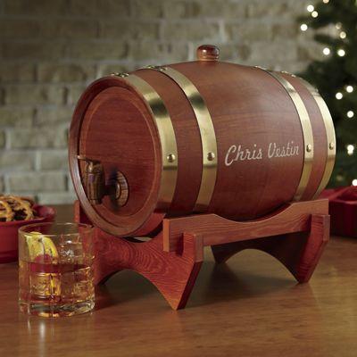 Personalized Wooden Keg