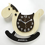 personalized rocking horse clock