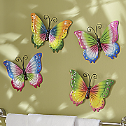 Set of 4 Butterfly Wall Décor