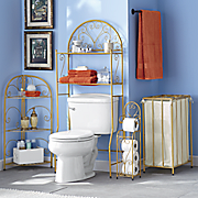 gold scroll bath furniture