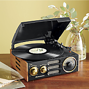 3 speed stereo turntable with am fm radio by studebaker
