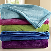bright plush blanket
