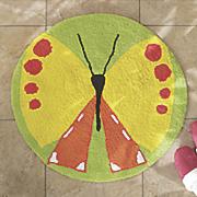 flutterby 2  6  round bath rug
