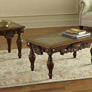 Hand-Carved Glass-Top Tables