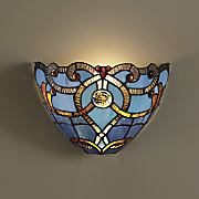 blue beauty stained glass wall shade