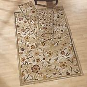 3 pc  flower garden rug set