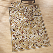 3 pc  flower garden rug set