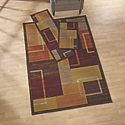 3 pc  squares rug set