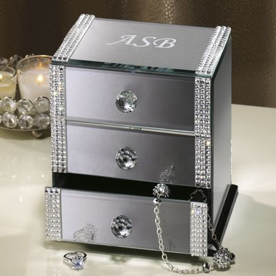 Personalized 3-Drawer Mirrored Box