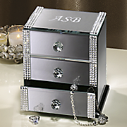 personalized 3 drawer mirrored box 111