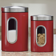 4 pc  window canister set