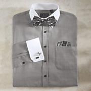 Shirt Bow Tie Handkerchief and Cufflinks Set