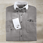 personalized shirt bow tie handkerchief cufflinks set
