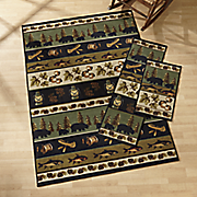 3 pc  lodge rug set