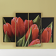 4 pc  tulip art canvas