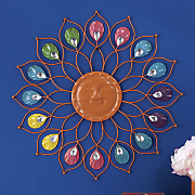 Brightly Bejeweled Wall Hanging