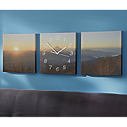 3-Piece Sunset Wall Clock