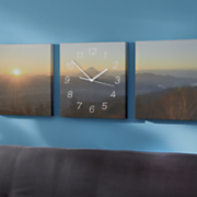 3 pc  sunset wall clock