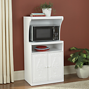 Rose Scroll Microwave Cart