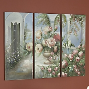 Set of 3 Flower Garden Canvas