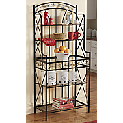 trailing leaves baker s rack