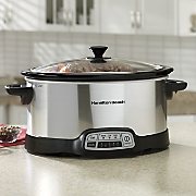 6 qt  programmable slow cooker by hamilton beach