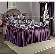 Elegance Corded Jacquard Bedspread, Sham and Window Treatments
