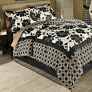 Glam Floral Comforter Set and Window Treatments